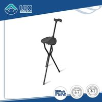 Adjustable Folding Walking Seat Cane