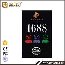 Best selling hotel Room Numbers Display electronic doorplate