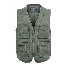 Men's Leisure Middle-aged And Old Multi Pocket Professional Photo Vest