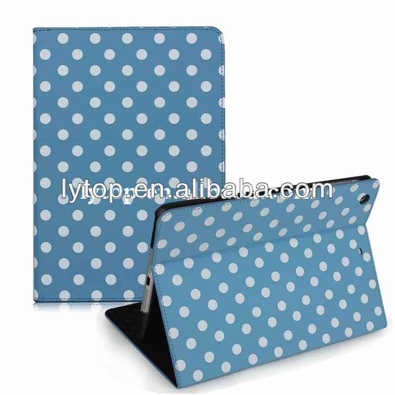 Stand Polka Leather Case For IPad Mini Retina