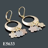2015 Newest Fashion many color earrings with real gold plated