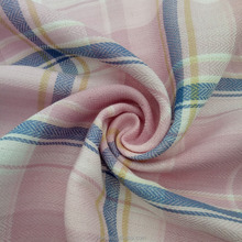100% cotton yarn dyed poplin plaid double layer shirt cloth material fabric