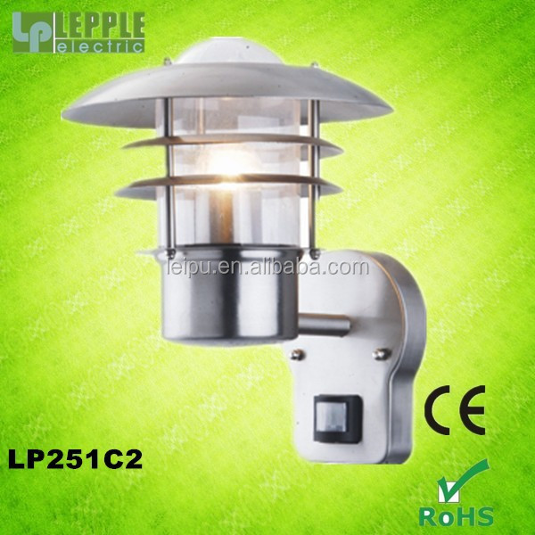 stainless steel exterior wall light with PIR sensor
