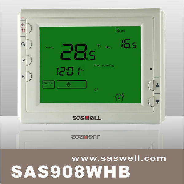 Large LCD digital display boiler heating programmable wiring room thermostats