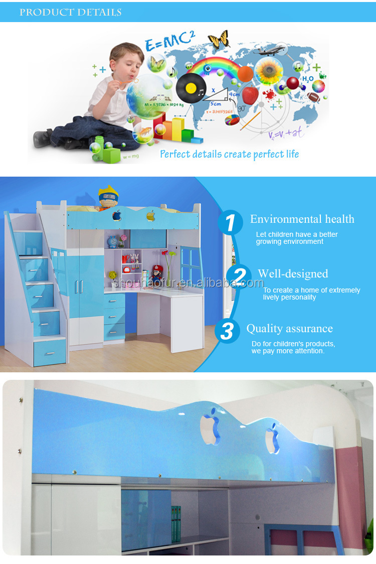 high quality safety baby double bed