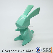 Wholesale Fantastic Blue Porcelain Rabbit Shaped Coin Bank Piggy Bank for Kids