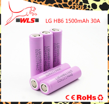 Lg hb6 1500mah 30A 18650 rechargeable battery LG HB6 IMR high drain battery