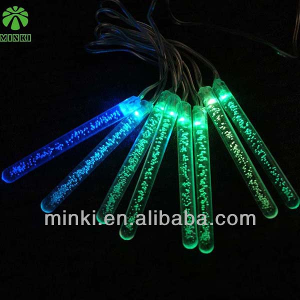 2013 new style cheap christmas tree battery icicle lights 9W