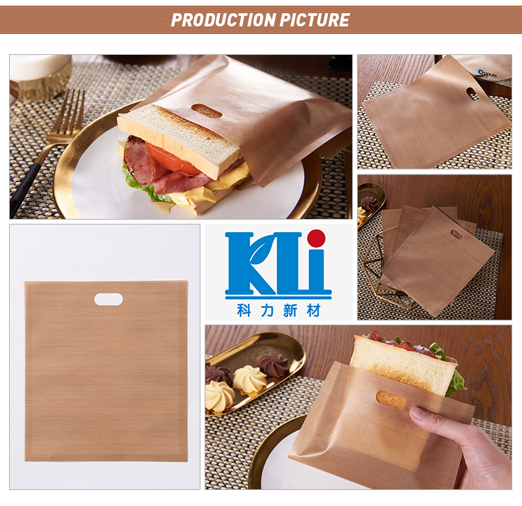 As seen on TV 2018 items reusable ptfe toaster bag with printed box