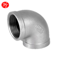 Stainless Steel 90 Degree Elbow, Female Thread, SS304, 150LB