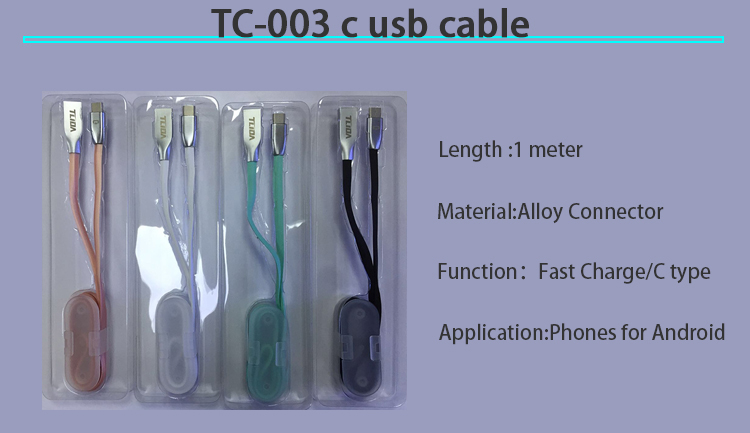 China wholesale cell phone 1 meter type c charger usb cable