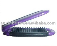 foldable hair brush comb mirror set
