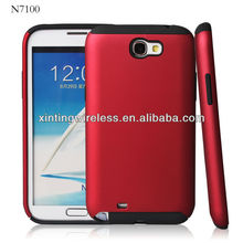 hybrid TPU+pc phone cover for samsung galaxy Note2 N7100