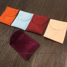 Custom Thick Suede Jewelry Pouch With Flap