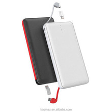 Input output 2A Fast charge Dual USB output business card power banks 10000mah
