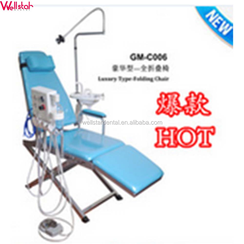 Luxury Folding Chair Mobile Dental chair with turbine unit