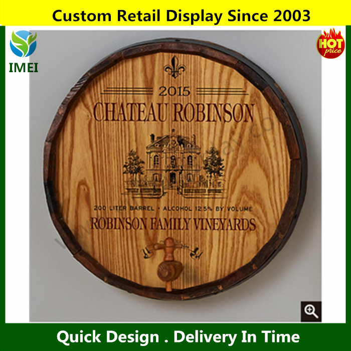 YM07114 pub signs farmhouse decor barrel end wood carving crafts for sale