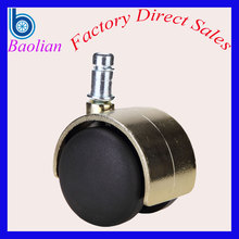 Fashion furniture type electroplated 50mm twin chair wheel