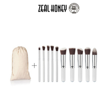 Zealhoney New Design Private Label 10pcs Personalized Best Makeup Brush with Bag