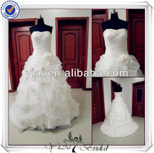 JJ2094 Real Sample Organza Ball Gown Western Style Wedding Dresses