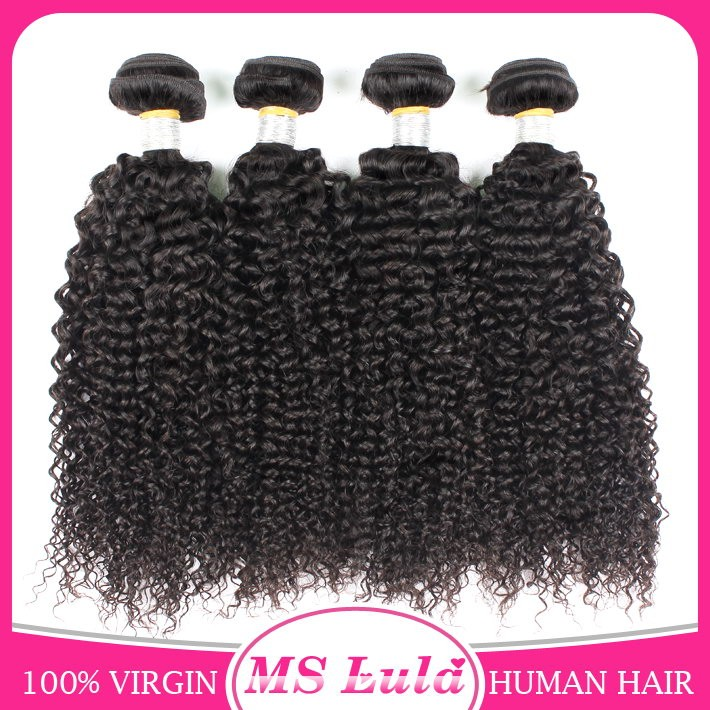 Ms Lula kinky curly malaysian hair bundles 8a grade malaysian hair sew in hair