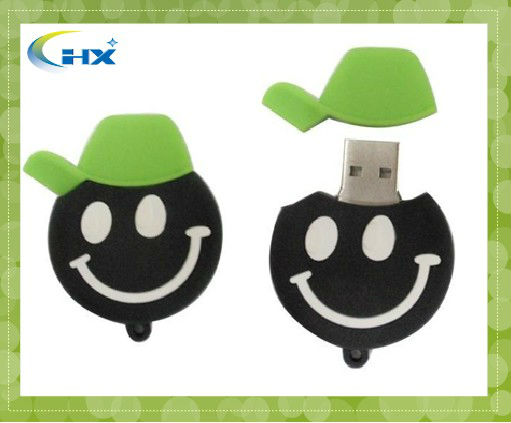 promotional customized cartoon mini 1gb silicone usb flash drives