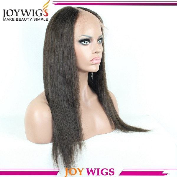 "Factory Wholesale Price16"" Silky Straight Color #2 Brazilian Hair U-Shaped Lace Wigs"