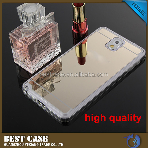 New arrival hot selling mobile phone case for samsung galaxy s4 tpu back cover with mirror