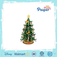 Promotion Christmas tress toy 3d puzzle paper tress