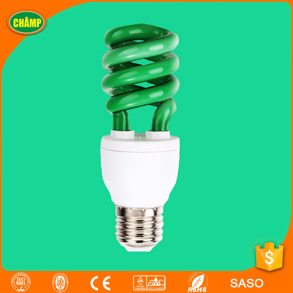 green color cfl decoration lamp 13w 15w energy saving bulb