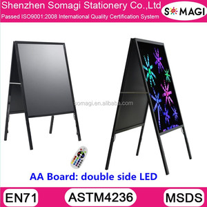 A frame led writing board - free standing advertising board - led advertising light board