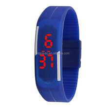 LED Silicon digital watch fashion design custom logo touch screen sport led silicone watches