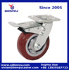 Factory offer transparent heavy duty galvanized solid pu wheel caster