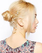 Chic cute Daisy flower buds hair comb hair pin head chain hair headpiece jewelry accessory