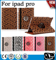 360 degree rotate Auto sleep function For ipad case leather for ipad pro case