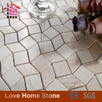 China Factory Direct Sales Cheap Wall Decoration 3D Wave Marble Mosaic Tile