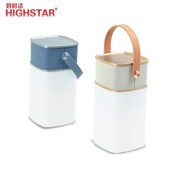HIGHSTAR professional wireless BT speaker portable waterproof speakers with led light and power bank
