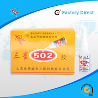 High quality low bloom low odor general purpose 502 cyanoacrylate adhesive super glue for plastic/rubber/glass/metal/wood