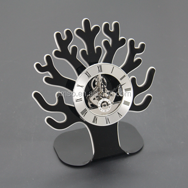 Laser cutting popular design clock for table decoration