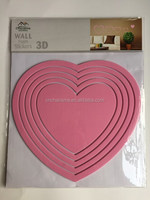 Heart Shape new design EVA wall decal foam sticker for home decoration
