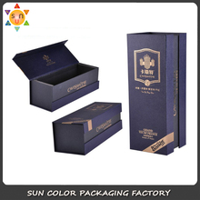 Custom luxury cardboard packaging fold wine gift box/leather wine box