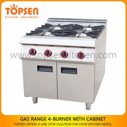 Industrial use durable cooking range parts, gas range cookers, used gas ranges for sale