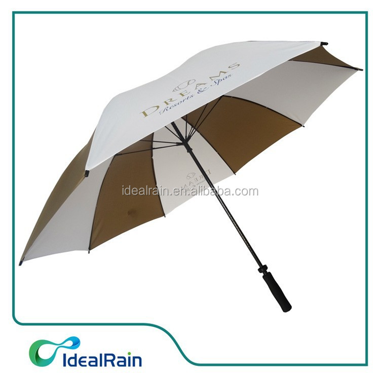 White Color Hotel Windproof Golf Umbrella