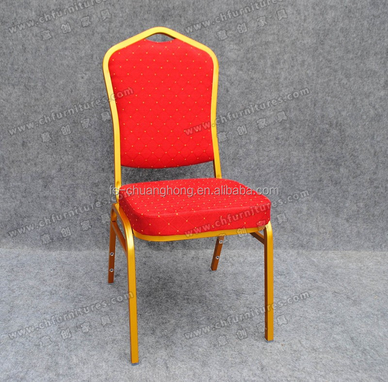 Price steel stacking banquet chair with comfortable seat cushion YC-ZG11