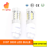 T20 12v 21w Wedge Bulb 3157 3535 smd 80W led replcement bulb