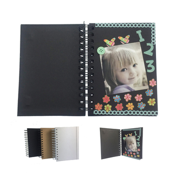 Custom Color 5x7 Black color Wire-O Elastic band scrapbook album