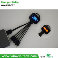 Custom moulded charging cable, port charger compatible with all power banks
