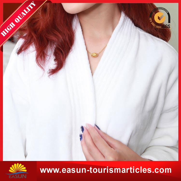 Low price white plain hotel waffle bathrobes for hotels pure cashmere bathrobe