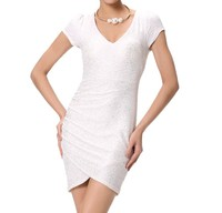 Wholesale Sexy Sim Women Party Dress Bandage White Costume Dress