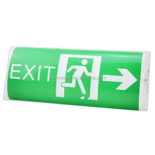 Industrial emergency running man exit sign wall mounted